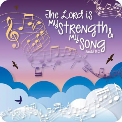 Picture of My strength and my song coaster