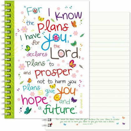 Picture of For I know the plans A5 notebook