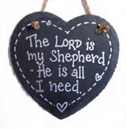 Picture of Slate heart - The Lord is my shepherd