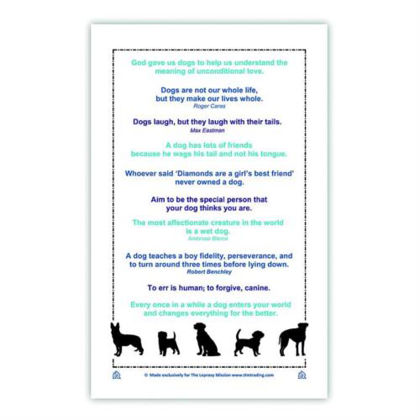 Picture of Dog lovers Tea towel