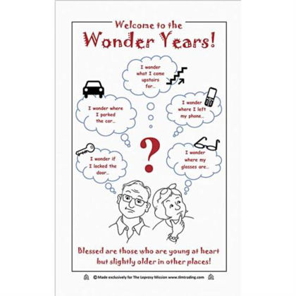 Picture of Welcome to the wonder years Tea towel