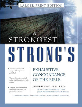 Picture of Strongest Strong's Exhaustive concordance of the bible (Large Print)