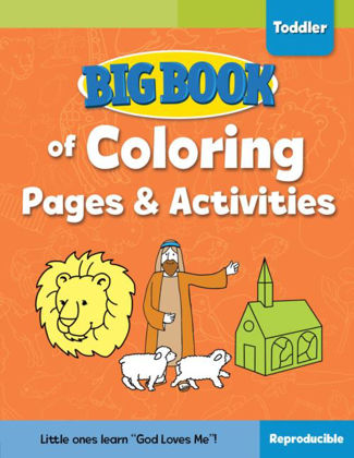 Picture of Big book Bible of colouring pages activities for Toddlers