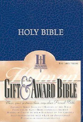 Picture of KJV Gift and award Blue Imitation Leather Red Letter