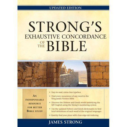 Picture of Strong's exhaustive concordance of the bible