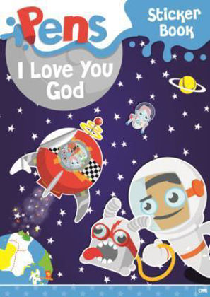 Picture of Pens - I love you God - sticker book