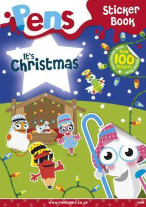 Picture of Pens sticker book - It's Christmas