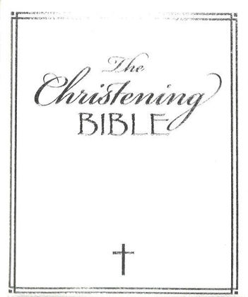 Picture of Christening bible The