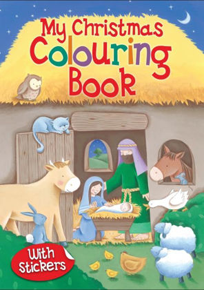 Picture of Christmas colouring book