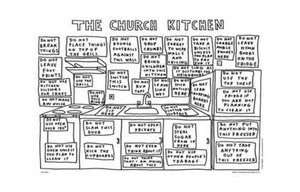Picture of Dave Walker tea towel - Church kitchen