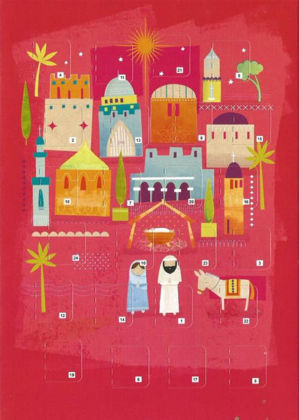 Picture of Bethlehem stable: Advent calendar card