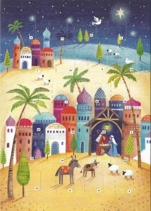 Picture of Bethlehem scene: Advent calendar card