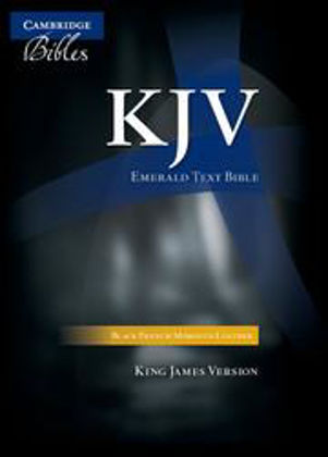 Picture of KJV Emerald Text Black