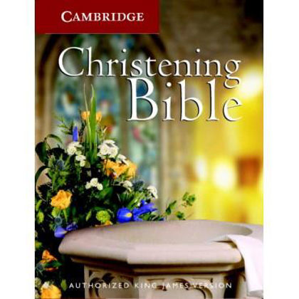 Picture of KJV Christening bible Ruby text White