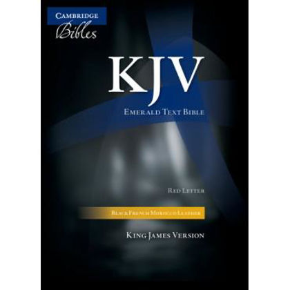 Picture of KJV Emerald Text Red letter Black