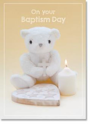Picture of Toy bear with cross and candle