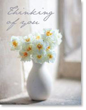 Picture of Cheerfulness in white vase