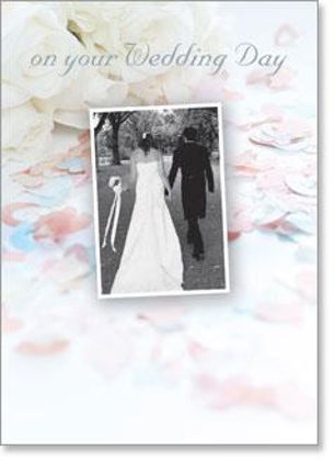 Picture of Hand in hand bride and groom