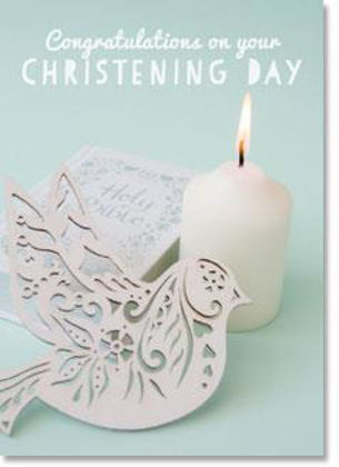 Picture of Bible candle and dove