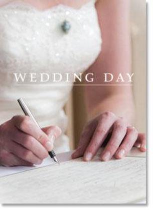 Picture of Bride signing register