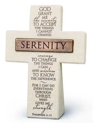 Picture of Cross with bronze title bar - Serenity