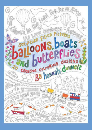 Picture of Balloon boats and butterflies - colouring book