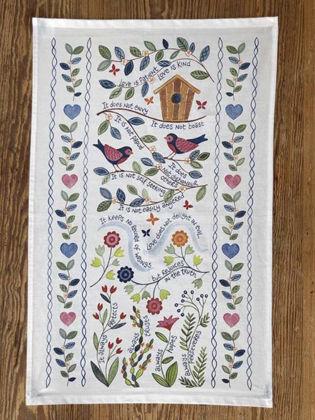 Picture of Love is patient Tea towel