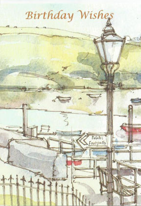 Picture of Lampost and seaside scene