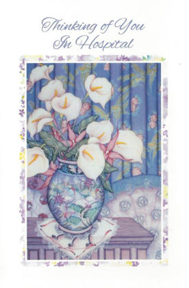 Picture of Vase of flowers - thinking of you hospit