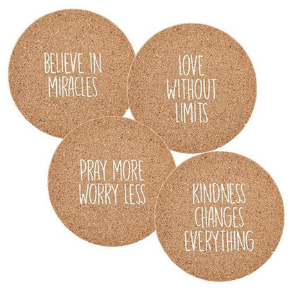 Picture of Believe in Miracles - set of coasters