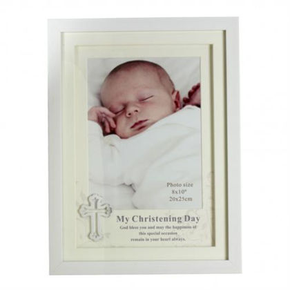 """Picture of Juliana White Christening Frame 8"""" X 10"""""""