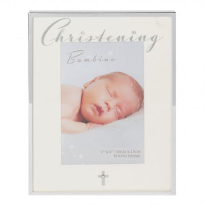 """Picture of Bambino Photo Frame - Christening 4 X 6"""""""