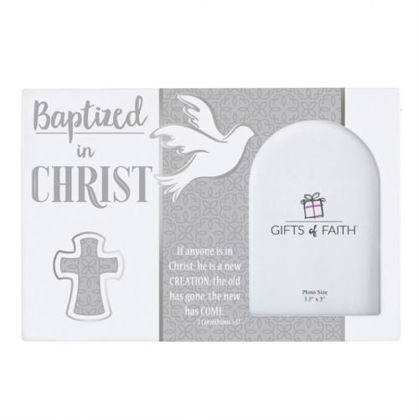 """Picture of Baptized In Christ Photo Frame 9x6"""""""