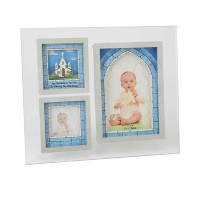 Picture of Christening Day Blue 3D Frame