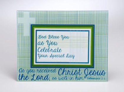 Picture of Baptism or Confirmation Glass Frame