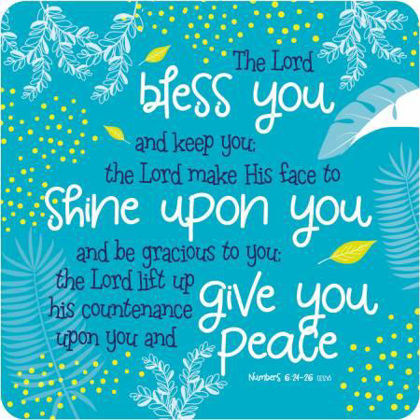 Picture of Bless you Teal coaster