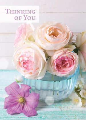 Picture of Pink roses in bowl