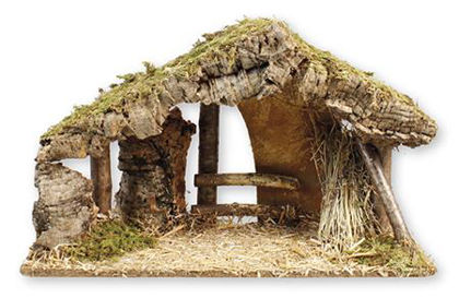 Picture of Nativity shed LED lights