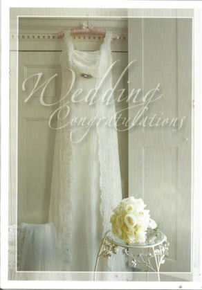 Picture of Hanging wedding gown