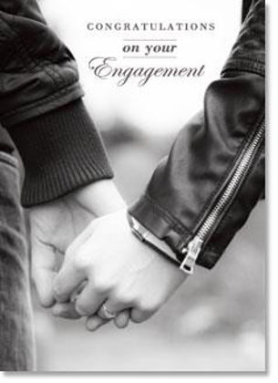 Picture of Couple holding hands b/w